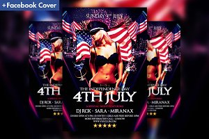 Independence Day Party Flyer Templat