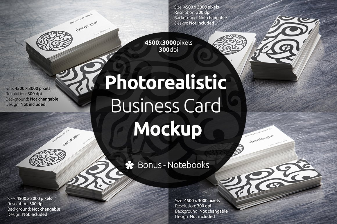 Photorealistic business card mockup product mockups creative market reheart Choice Image