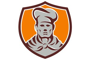 Chef Cook Shield Retro