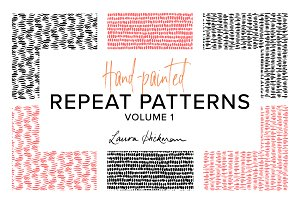 HAND-PAINTED INKY PATTERNS
