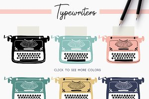 Hand Drawn Typewriter Clipart