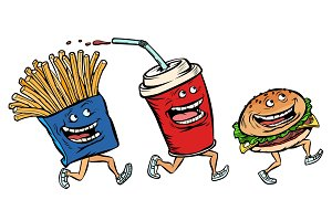 characters set fast food French