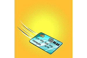 Bank card flies, credit and debit