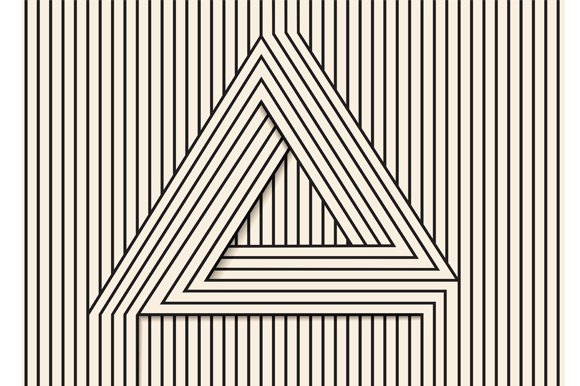 Line Optical Designing : Visual illusion line art illustrations creative market