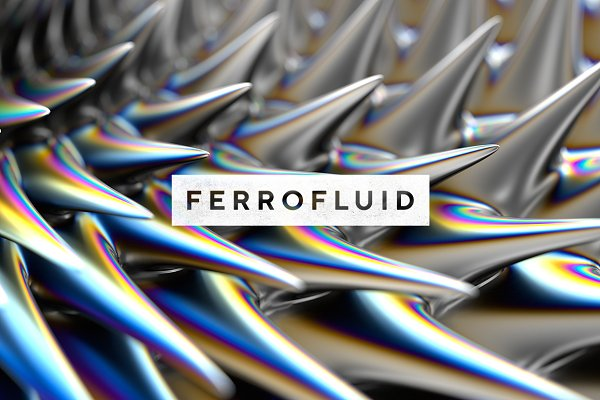 Textures: RuleByArt - Ferrofluid: Inspired Images