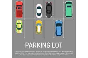 City car parking vector illustration