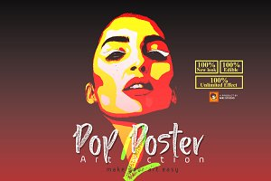 Pop Poster Art Photoshop Action