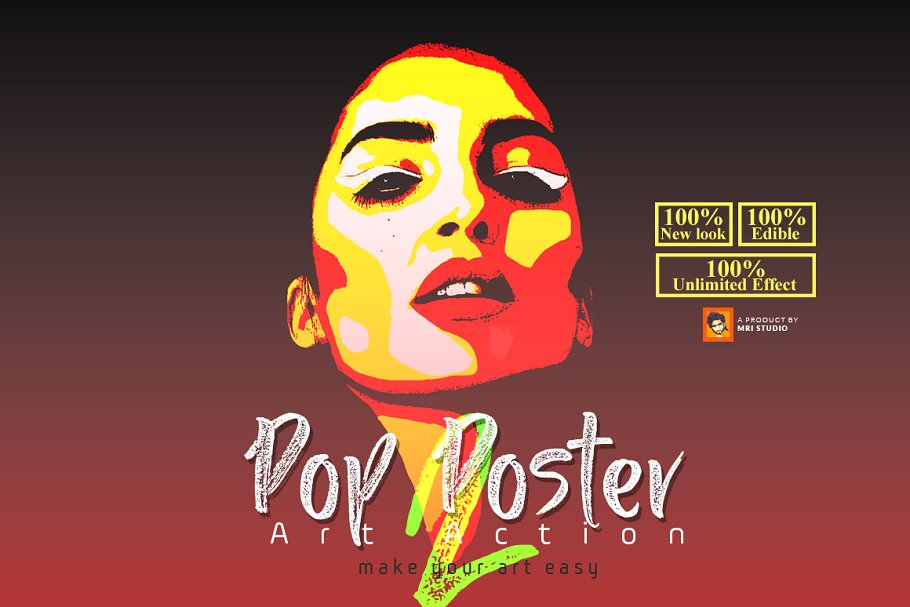 Pop Poster Art Photoshop Action ~ Photoshop Add-Ons
