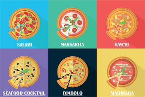6 Pizza icons
