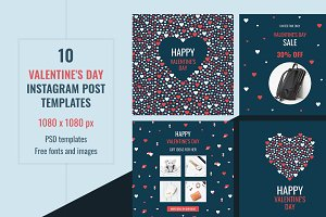 Valentine's Instagram Post Templates