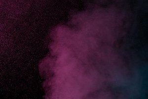 Blue violet water vapor