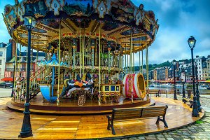 Beautiful wooden French Carousel