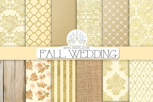 FALL WEDDING digital paper