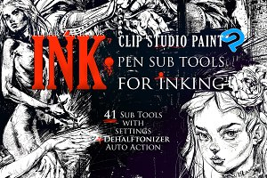 INK. 41 Clip Studio Paint Sub-Tools