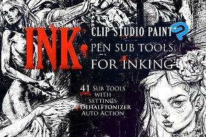 Inking CLIP STUDIO PAINT Sub Tools