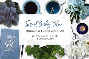 Sweet Baby Blue Desk Scene Creator