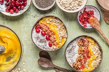 Smoothie bowls breakfast  by  in Food & Drink