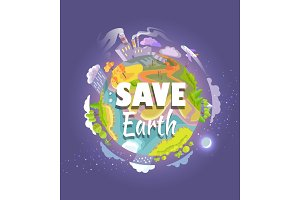 Save Earth Agitation Poster with
