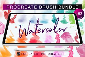 (%)Procreate Watercolor Brush Bundle