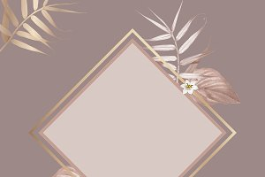 Frame with tropical vintage vector