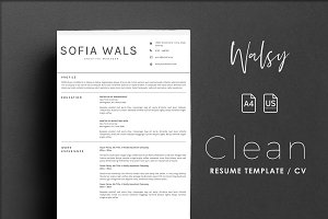 Resume Template - Walsy