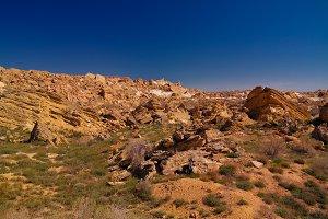 Panorama view to Plateau Ustyurt fro