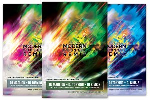 Modern Dubstep Remix Flyer