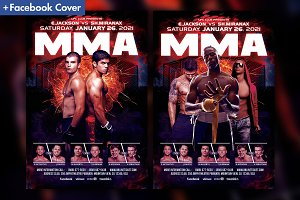 MMA - Boxing Fight Flyer Template
