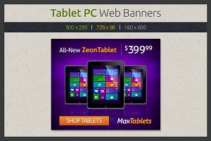 Tablet PC Web Banners