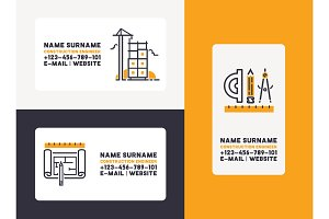 Builder vector business card