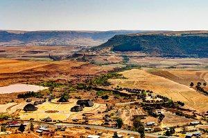 Aerial view to Thaba Bosiu Cultural