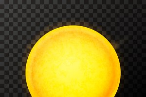 Bright yellow sun star