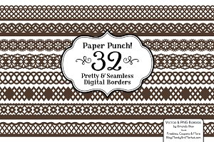 Chocolate Brown Lace Vectors