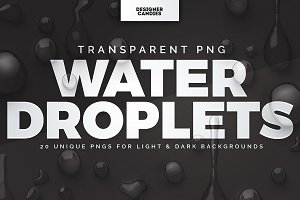 Transparent Water Droplet PNGs