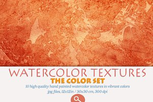 Watercolor Textures Set - Brights