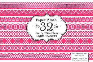 Hot Pink Lace Clipart & Vectors