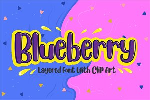 Blueberry - Layered Font