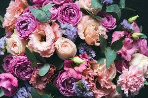 Beautiful Peonies Roses bouquet