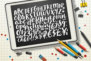 Handwritten Brush Alphabet