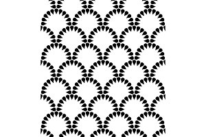 Japanese floral vector seamless