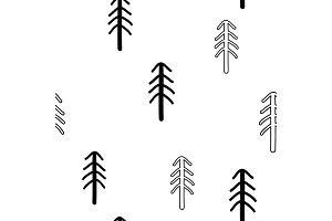 Seamless stylish pattern with