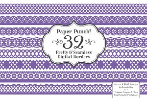 Purple Lace Clipart & Vectors