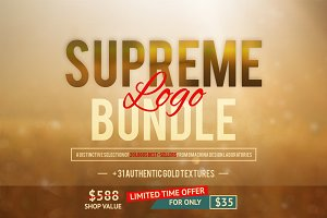 Supreme Logo Bundle + Gold Textures