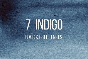 7 Watercolor Indigo Backgrounds