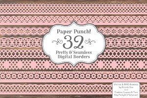 Soft Pink Lace Borders
