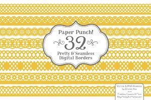 Sunshine Yellow Lace Borders