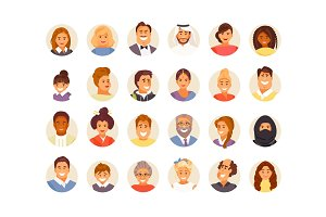 Avatars large vector set
