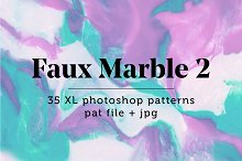 Faux Marble 2: 35 Seamless Patterns by  in Patterns