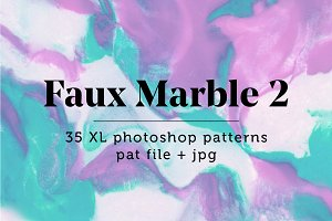 Faux Marble 2: 35 Seamless Patterns