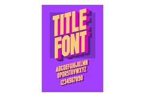 3d font alphabet chopped type, serif